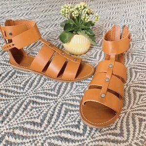 Madewell 100% Leather Rowan Gladiator Sandals